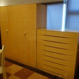 『【2013年5月末まで、レアな家具・松創フェア】シカモアミガキのワイドチェスト・シモン』の画像
