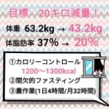 『先週の摂取カロリー【1094kcal】&今週の目標』の画像