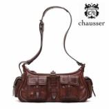 『入荷 | Chausser (ショセ) C611 バッグ【ダーブラウン】レディース』の画像