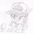 【初挑戦?】描いてみました『ドクタースランプ』のアラレちゃん☆