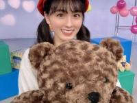 【乃木坂46】大園桃子さん、巨大な熊とツーショット!!!