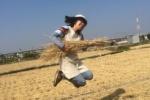 交野産の稲ワラで手作りのしめ縄リースを作ろう!①〜ワラを入手編『つくつく造形教室』〜