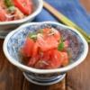 トマトの酢の物。【さっぱり箸休め・合わせるだけ・アレンジ可】の献立。※インスタライブ告知