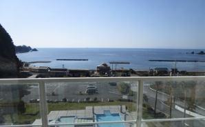 窓から駿河湾が見えた西伊豆のホテル