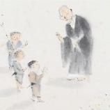 『良寛と若い弟子』の画像