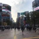 緊急事態宣言前後の渋谷駅ハチ公口