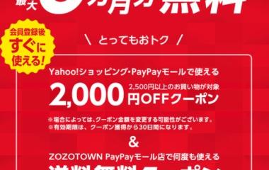 『キャンペーン情報3:Yahoo!プレミアム6ヶ月無料キャンペーン(ボードゲームにも使える2000円OFFクーポン付き)』の画像