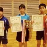 『令和元年度第68回宮城県中学校総合体育大会卓球競技 結果【 仙台ジュニア 】』の画像