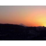 『夕映えの中の富士』の画像