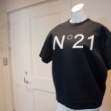 『N°21(ヌメロ ヴェントゥーノ)ロゴ入りボンディングスウェット』の画像