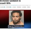 マクドナルドでチキンバーガーを買って来た妻を殴った夫を逮捕「俺はマクドナルドのチキンバーガーが大嫌いなんだ!」