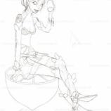 『CCレモンの擬人化女子_(線画)』の画像