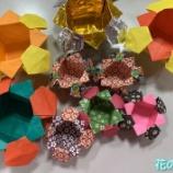 『花の季苑/折り紙で小物入れを作りました!』の画像