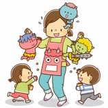 『【クリップアート】豆まきをする子供と子鬼のイラスト』の画像