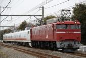 『2019/2/27運転 EF81-133牽引キヤE193系3両回送』の画像