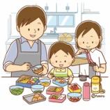 『【クリップアート】お弁当を作るお父さんとこどもたちのイラスト』の画像