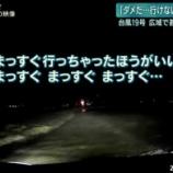 『【台風19号の衝撃映像】氾濫した川の水に車が飲み込まれる瞬間』の画像