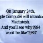 【動画】今から30年前、アップルが放映した初代Macの伝説的CM