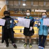 『【試合結果】第5回全国ホープス卓球後援会会長杯(東日本小学生オープン大会)』の画像
