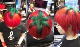 【日本のファッション】  このヘアースタイルはヤバすぎだろ! 日本から トマトヘッドの髪型が誕生したぞ。   海外の反応