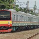 『205系横浜線H9編成、埼京線ハエ25編成とMM'差し替え』の画像