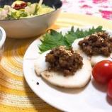 『山芋の薬膳肉味噌乗せは、加味逍遙散と六味丸♪』の画像
