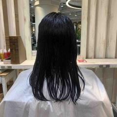 表参道 神宮前 東京都内で美髪パーマが得意な美容室ミンクス原宿 須永健次 伸ばしかけセミロング×外国人風×パーマ しっかりめナチュラルなパーマに仕上げさせていただきました。