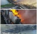 橋が崩落し列車が落下・炎上、米アリゾナ州