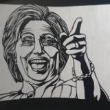 ヒラリークリントンの切り絵作りました