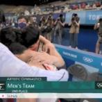 体操男子団体 日本は「0.103」差で銀メダル 連覇ならず