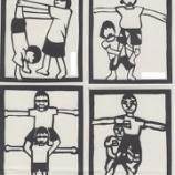 『組み体操の切り絵で入退場門を飾ろう』の画像