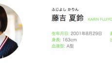 藤吉夏鈴ちゃん、早くも欅坂46人気3番手に!