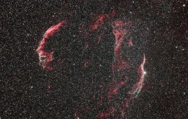 『はくちょう座の網状星雲(Vell NebulaNGC6992-5、NGC6960)』の画像