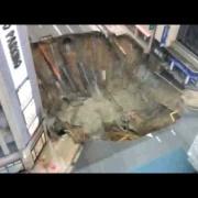 【映像】博多駅前で道路が陥没