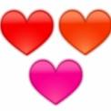 ぼやけたハートマーク 赤・オレンジ・ピンク