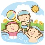 『【クリップアート】プールであそぶこどもたち』の画像