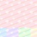 斜めストライプとハートのシームレスパターン素材