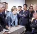【画像】 G7サミットの画像、各国首脳の目線が全くあってなくて中世の絵画みたいになってる