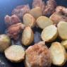 だしいらずな鶏肉と新じゃがの海苔とマスカルポーネチーズ炒め