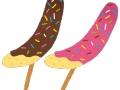 現役アイドルの持ってるチョコバナナが完全にアレの形なんだがwwwww(画像あり)