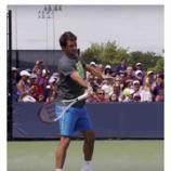 『久々にテニスしたけどフォアハンドが良くなかった』の画像