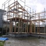 『続! 週末住宅建築日記 その9 建て方構造骨組み完了。』の画像