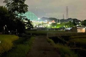 真っ暗な畦道を進んで星田ゴルフセンターの近くへ!星田駅周辺から市境に沿って歩いてみた!【中編】