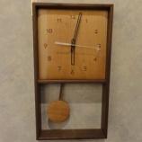 『【SWINGの小物】ブラックチェリーの振り子時計』の画像