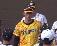 【朗報】今日の野手キャプテンはウル虎ユニの江越大賀!!!!