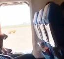 中国人女性 飛行機に搭乗後に新鮮な空気が吸いたいと勝手にドアを開けてしまう