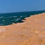 【動画】中国、海が真っ二つに色違いに!驚くべき壮大で気持ち悪い現象…!?  [海外]