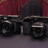 『フジ X100とX-Pro1の大きさ比較』の画像