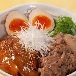 『【松屋】牛と味玉の豚角煮丼生野菜セット ⇒ めっちゃ旨い』の画像