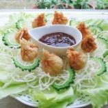 『夏の薬膳レシピ「豆腐とゴーヤともやしの揚げワンタン・甘酢あん」作りました』の画像
